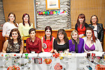 Aoife Sheehan from Dromid celebrated her 18th birthday with friends at Chin Fong Chinese Restaurant, Cahersiveen on Saturday night pictured here front l-r; Rosalie Roddy, Lorna O'Sullivan, Aoife Sheehan, Úna O'Connor, Emma Carey, Heather O'Sullivan, back l-r; Marion Lynch, Sarah Curran, Melissa O'Sullivan & Karla Boyle.