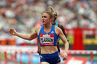 Sally Pearson of Australia competes in the womenís 100 metres hurdles during the Muller Anniversary Games at The London Stadium on 9th July 2017