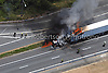 06022008 - Wilmington - Aerial view of tractor-trailer that was set ablaze by a stuck mattress on Route 95 and  the 141 interchange.  Special to the News Journal - Julia Robertson