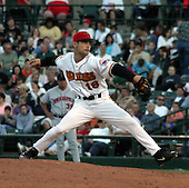 February 3, 2009:  Micheal Nakamura of the Red Wings, Class-AAA affiliate of the Minnesota Twins, during a International League game at Frontier Field in Rochester, NY.  Photo by:  Mike Janes/Four Seam Images