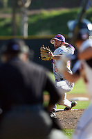 March 6 2009: Keegan Davis of the Evansville Purple Aces in action against the Pepperdine Waves at Eddy D. Field Stadium in Malibu,CA.  Photo by Larry Goren/Four Seam Images