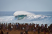 PIPELINE, Oahu/Hawaii (Wednesday, December 8, 2010) - Day 1 of the Billabong Pipe Masters in Memory of Andy Irons, the third and final stop on the Vans Triple Crown of Surfing (an ASP Specialty Series) got underway today, with Rounds 1 and 2 completed in challenging six foot (2 metre) waves at the Banzai Pipeline on Oahu's North Shore.. .The final stop on the 2010 ASP World Tour, the Billabong Pipe Masters in Memory of Andy Irons utilized the ASP's Dual Heat Format today, overlapping the man-on-man matches to take advantage of the swell on offer. With a smattering of Pipeline specialists lining the field, the world's best surfers campaigned against one another and the elements to ensure their position amongst the world's best surfers for 2011.. .Dusty Payne (HAW), 21, 2010 ASP World Tour rookie, currently sits at No. 36 on the ASP World Rankings in need of at least an Equal 9th to vault himself into a requalification spot for 2011..Payne faces two-time ASP World Champion Mick Fanning (AUS), 29, in Round 3 of the Billabong Pipe Masters in Memory of Andy Irons.. .Joel Parkinson (AUS), 29, in his first ASP World Tour event back since injury, posted a convincing Round 2 victory over wildcard Heitor Alves (BRA), 28, in trying conditions out at Pipeline.. .Photo: joliphotos.com