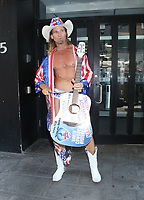 NEW YORK, NY - August 09: Robert John Burck aka Naked Cowboy at Good Day NY in New York City on August 09, 2019. <br /> CAP/MPI/RW<br /> ©RW/MPI/Capital Pictures