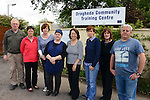 Fighting to keep their jobs - Staff at Drogheda Community Training Centre (from left): William Carolan, Eilis Haak, Marleen Dunne, Ann O'Rourke, Deirdre Harmon, Freda Foley, Mary Crilly and Andy Wilson.