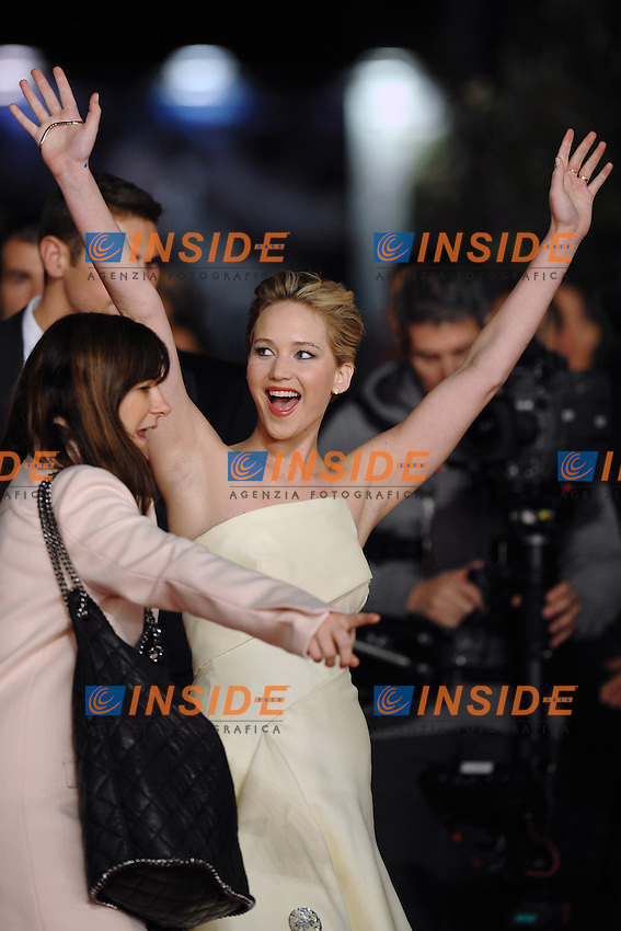 Jennifer Lawrence<br /> Roma 14-11-2013 Auditorium <br /> Festival Internazionale del Film di Roma<br /> Rome Film Festival,Red Carpet &quot;The Hunger Games: Catching Fire&quot;<br /> Foto Antonietta Baldassarre / Insidefoto