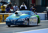 Apr. 13, 2012; Concord, NC, USA: NHRA pro stock driver Steve Kent during qualifying for the Four Wide Nationals at zMax Dragway. Mandatory Credit: Mark J. Rebilas-