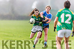 Sarah Murphys  Kerry goes past Sarah McCaffrey Dublin during the NFL in Castleisland on Sunday