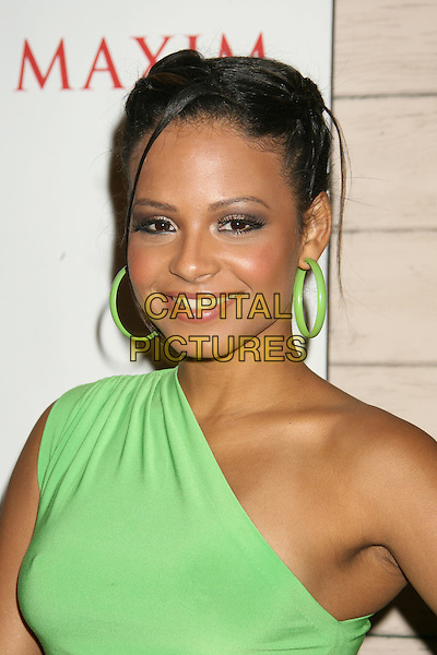 CHRISTINA MILIAN.Maxim's Hot 100 Party 2008 at Paramount Studios, Hollywood, California, USA, .21 May 2008..portrait headshot one shoulder plaits green hoop earrings.CAP/ADM/MJ.©Michael Jade/Admedia/Capital PIctures