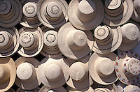 Traditional hats called pintado ocuenos for Sale in Sunday Market , El Valle , Panama