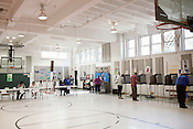May 8, 2012. Durham, NC.. At George Watts Montessori, the gym served as the polling station..  Voters took to the polls today to vote in primaries for both parties and on Amendment One, which would define the only legal relationship between 2 people as a marriage between a man and a woman.