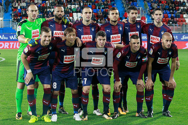SD Eibar's team photo during La Liga match. September 15,2017.  *** Local Caption *** &copy; pixathlon<br /> Contact: +49-40-22 63 02 60 , info@pixathlon.de