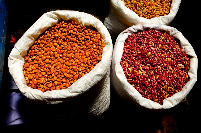 Costa Rica, Cartago, Mercado Muncipal de Cartago, Fruit and Vegetable Market, Red Beans For Cooking