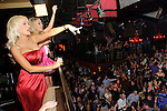 "Holly Madison and Angelica ""Angel"" Perrino greet the crowd at TAO nightclub, Las Vegas, May 6, 2010  © Al Powers / RETNA ltd"