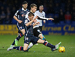 Ross County v St Johnstone...05.12.15  SPFL  Dingwall<br /> Marcus Fraser and David Wotherspoon battle for the ball<br /> Picture by Graeme Hart.<br /> Copyright Perthshire Picture Agency<br /> Tel: 01738 623350  Mobile: 07990 594431