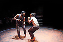 The Brothers Size by Tarell Alvin McCraney , A Co Production between Young Vic and Actors Touring Company directed by Bijan Sheibani. With Sope Dirisu as Ogun, Jonathan Ajayi as Oshoosi . Opens at The Young Vic Theatre on 26/1/18. CREDIT Geraint LewisEDITORIAL USE ONLY