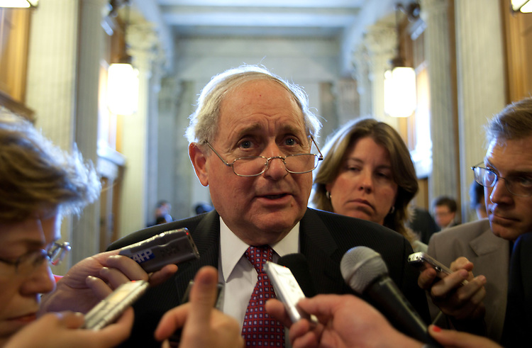 WASHINGTON, DC - May 4: Member of the Senate Homeland Security and Government Affairs Committee, Carl Levin (D-Mich.), speaks to the press about the suspect in custody for the attempted bombing of New York's Times Square, and his legal rights as an American citizen. (Photo by Ryan Kelly/Congressional Quarterly)