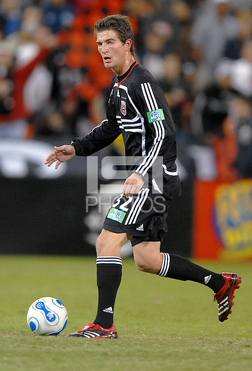 DC United defender Bobby Boswell (32) looks to make a pass.