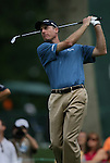 6 September 2008:   Jim Furyk tees off on the seventh hole in the third round of play at the BMW Golf Championship at Bellerive Country Club in Town & Country, Missouri, a suburb of St. Louis, Missouri. Furyk was the leader after the conclusion of round two with a score of 62.  After the first nine holes of the 18-hole third round, Furyk was 11 under-par.  The BMW Championship is the third event of the Fed Ex Cup and the top 30 finishers will qualify for the next event of the championship.
