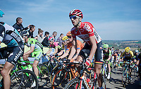 an already bruised Jelle Vanendert (BEL/Lotto-Soudal) up the Gulpenerberg<br /> <br /> 50th Amstel Gold Race 2015
