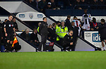 Visiting manager Mercelo Bielsa looks on during the closing stages of the second-half as West Bromwich Albion take on Leeds United in a SkyBet Championship fixture at the Hawthorns. Formed in 1878, the home team were relegated from the English Premier League the previous season and were aiming to close the gap on the visitors at the top of the table. Albion won the match 4-1 watched by a near-capacity crowd of 25,661.