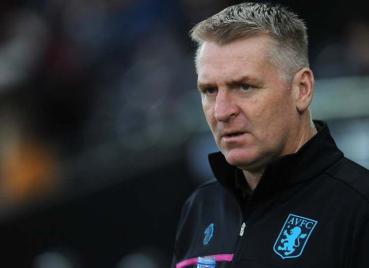 Aston Villa manager Dean Smith during the pre-match warm-up <br /> <br /> Photographer Ian Cook/CameraSport<br /> <br /> The EFL Sky Bet Championship - Swansea City v Aston Villa - Wednesday 26th December 2018 - Liberty Stadium - Swansea<br /> <br /> World Copyright © 2018 CameraSport. All rights reserved. 43 Linden Ave. Countesthorpe. Leicester. England. LE8 5PG - Tel: +44 (0) 116 277 4147 - admin@camerasport.com - www.camerasport.com