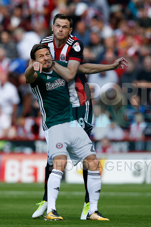 Richard Stearman of Sheffield Utd during the English Championship League match at Bramall Lane Stadium, Sheffield. Picture date: August 5th 2017. Pic credit should read: Simon Bellis/Sportimage