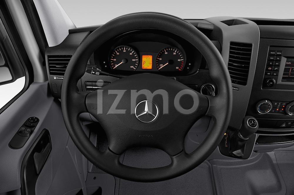 Car pictures of steering wheel view of a 2016 Mercedes Benz Sprinter 2500-144-WB-High-Roof 4 Door Cargo Van Steering Wheel
