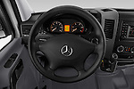 Car pictures of steering wheel view of a 2017 Mercedes Benz Sprinter 2500-144-WB-High-Roof 4 Door Cargo Van Steering Wheel