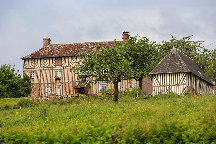 France, Orne (61), Camembert, manoir de Beaumoncel où vécut Marie Harel // France, Orne, Camembert, Beaumoncel manor where lived Marie Harel