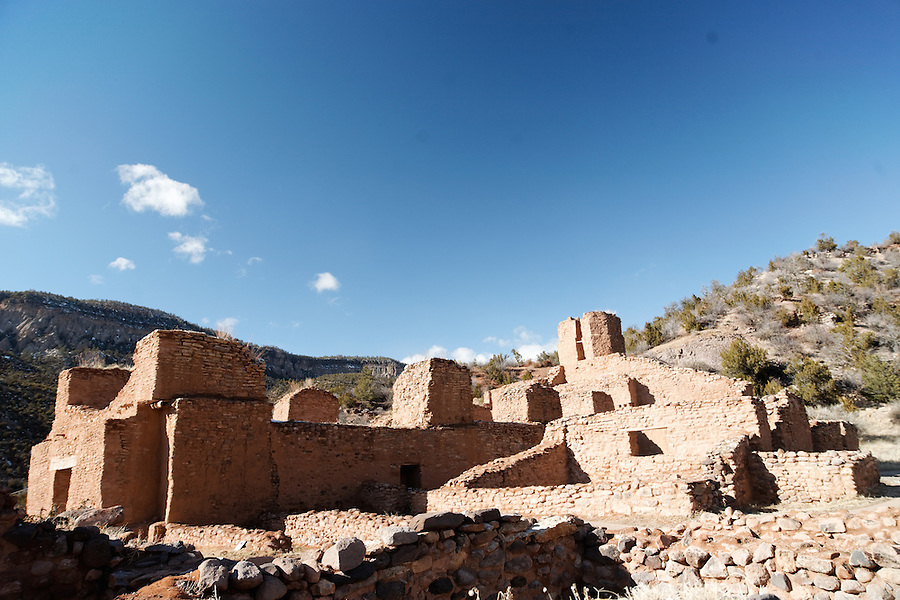 Remains of San Jose de los Jemez church dating to 1610, Jemez State Monument Heritage Area, Jemez Springs, New Mexico, USA