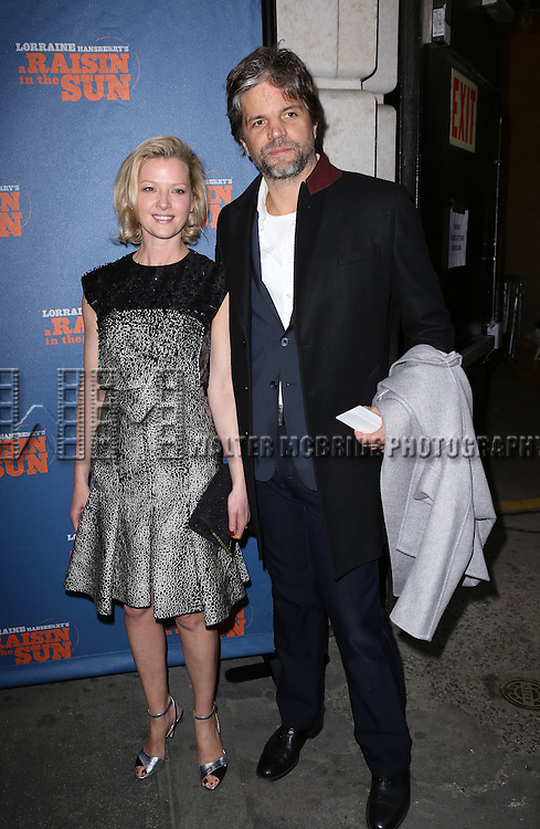 Gretchen Mol and Tod Williams attending the Broadway Opening Night Performance of 'A Raisin In The Sun'  at the Barrymore Theatre on April 3, 2014 in New York City.