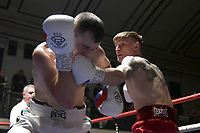 Connor Vian draws with Sam Omidi during a Boxing Show at York Hall on 30th November 2018