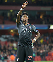 David Alaba of Bayern Munich after their 1-5 win in the UEFA Champions League round of 16 match between Arsenal and Bayern Munich at the Emirates Stadium, London, England on 7 March 2017. Photo by Alan  Stanford / PRiME Media Images.