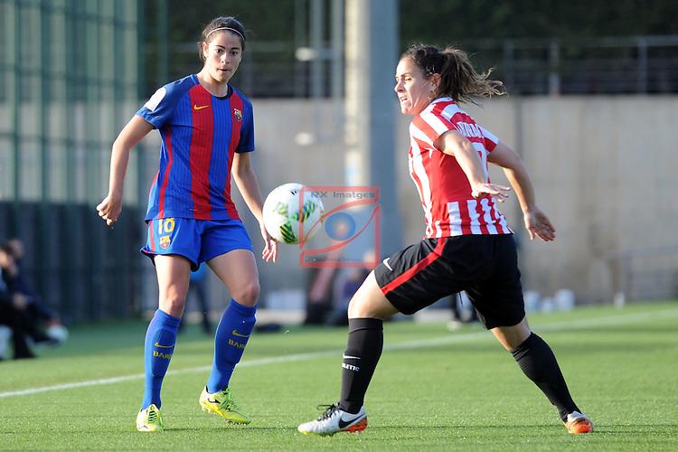 Spanish Women's Football League Iberdrola 2016/17 - Game: 11.<br /> FC Barcelona vs Athletic Club: 2-1.<br /> Marta Torrejon vs Eli Ibarra.