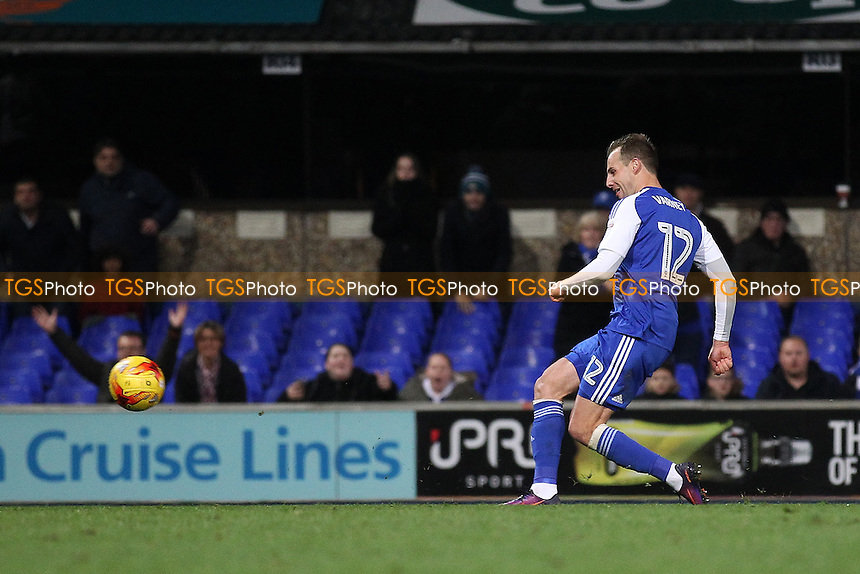 Luke Varney of Ipswich Town scores the second goal for his team during Ipswich Town vs Queens Park Rangers, Sky Bet EFL Championship Football at Portman Road on 26th November 2016