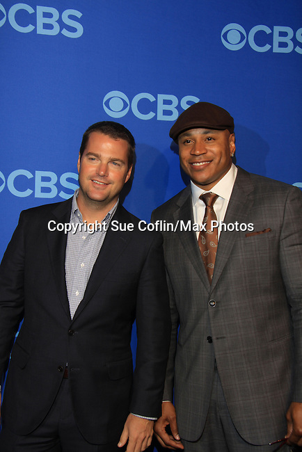 Chris O'Donnell & L.L. Cool J - NCIS: Los Angeles at the CBS Upfront 2013 on May 15, 2013 at Lincoln Center, New York City, New York. (Photo by Sue Coflin/Max Photos)