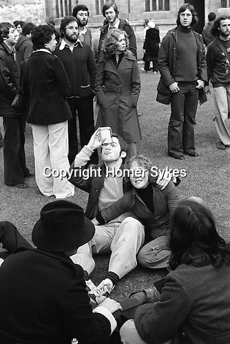 May 1st. May day morning Oxford University, Oxfordshire England 1976