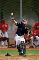 Tyler Dial #64 of the AZL Padres during a game against the AZL Reds at the Cincinnati Reds Spring Training Complex on July 13, 2013 in Goodyear, Arizona. AZL Reds defeated the AZL Padres, 11-10. (Larry Goren/Four Seam Images)