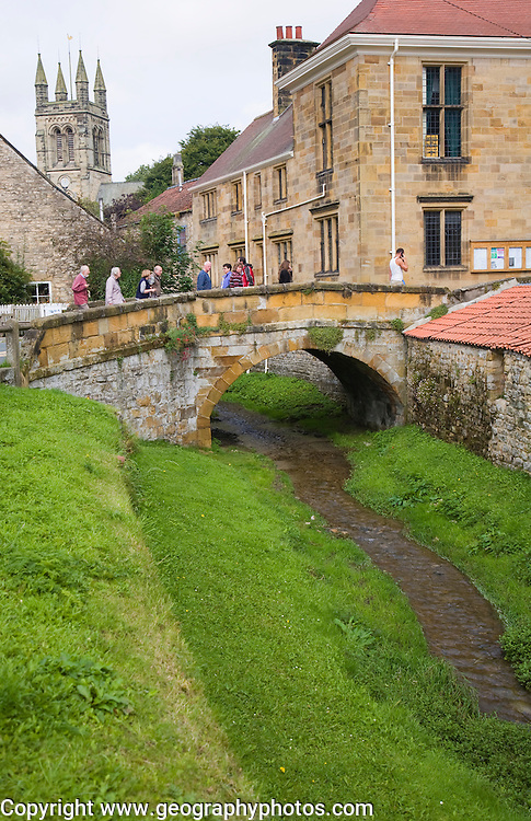 Historic settlement of Helmsley, north Yorkshire, England