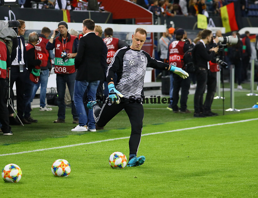 Torwart Marc-Andre ter Stegen (Deutschland Germany) - 06.09.2019: Deutschland vs. Niederlande, Volksparkstadion Hamburg, EM-Qualifikation DISCLAIMER: DFB regulations prohibit any use of photographs as image sequences and/or quasi-video.