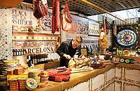 Nederland - Amsterdam - Januari 2019.  HORECAVA beurs in de RAI. Beursstand met spaanse producten. Foto Berlinda van Dam / Hollandse Hoogte