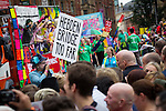 © Joel Goodman - 07973 332324 . 24 August 2013 . Manchester , UK . 2013 Gay Pride Parade through Manchester City Centre . This year's theme is 1980s . Photo credit : Joel Goodman