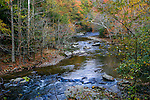 Flowing River Water During Autumn In The Great Smoky Mountains National Park, Tennessee, USA