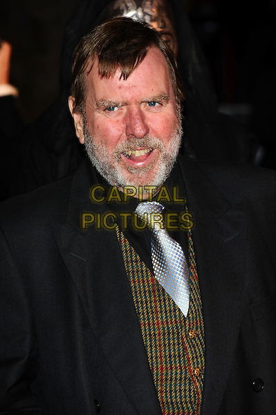 TIMOTHY SPALL.'Harry Potter And The Deathly Hallows: Part 1' world film premiere, Empire cinema Leicester Square and Odeon Leicester Square, London, England 11th November 2010.headshot portrait beard facial hair black shirt green tweed waistcoat.CAP/CJ.©Chris Joseph/Capital Pictures.