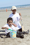 Amit and Karthik at the Cricket Tournament on Laytown Beach...Picture Jenny Matthews/Newsfile.ie