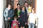 Mary Rose Porter with her family and sponsor at the Ballymakenny NS Confirmation...Photo NEWSFILE/Jenny Matthews.(Photo credit should read Jenny Matthews/NEWSFILE)....This Picture has been sent you under the condtions enclosed by:.Newsfile Ltd..The Studio,.Millmount Abbey,.Drogheda,.Co Meath..Ireland..Tel: +353(0)41-9871240.Fax: +353(0)41-9871260.GSM: +353(0)86-2500958.email: pictures@newsfile.ie.www.newsfile.ie.FTP: 193.120.102.198.