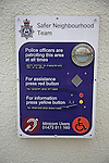 Safer Neighbourhood Team community police sign