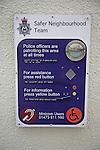 Safer Neighbourhood Team community police sign