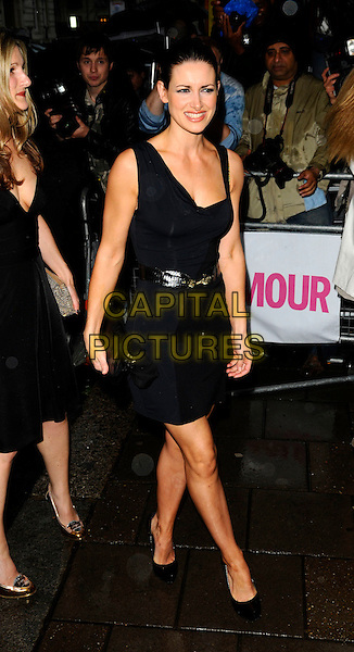 KIRSTY GALLACHER.Outside arrivals at The Glamour Women of the Year Awards 2008, Berkeley Square Gardens, London, England. .June 3rd, 2008.full length black dress belt clutch bag purse .CAP/CAN.©Can Nguyen/Capital Pictures.