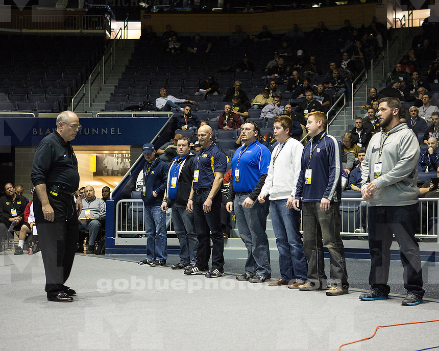 Photos from the Michigan Football Coaches' Clinic at Crisler Center and Michigan Stadium in Ann Arbor, Mich., on March 22, 2013.